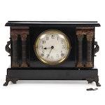 Sessions Ormulu and Ebonized Wood Neoclassical Mantle Clock