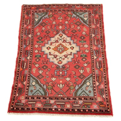 2'5 x 3'8 Hand-Knotted Persian Malayer Accent Rug, 1970s