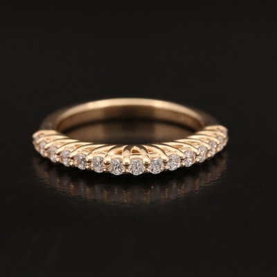 14K Band with Swarovski Cubic Zirconia
