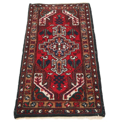 2'2 x 4'1 Hand-Knotted Indo-Persian Tabriz Wool Accent Rug, circa 2000s