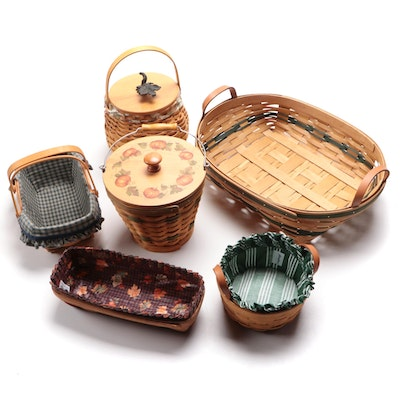 Longaberger Baskets with Service Liners