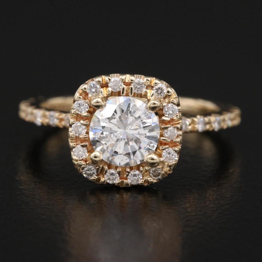 14K 1.08 CTW Diamond Ring