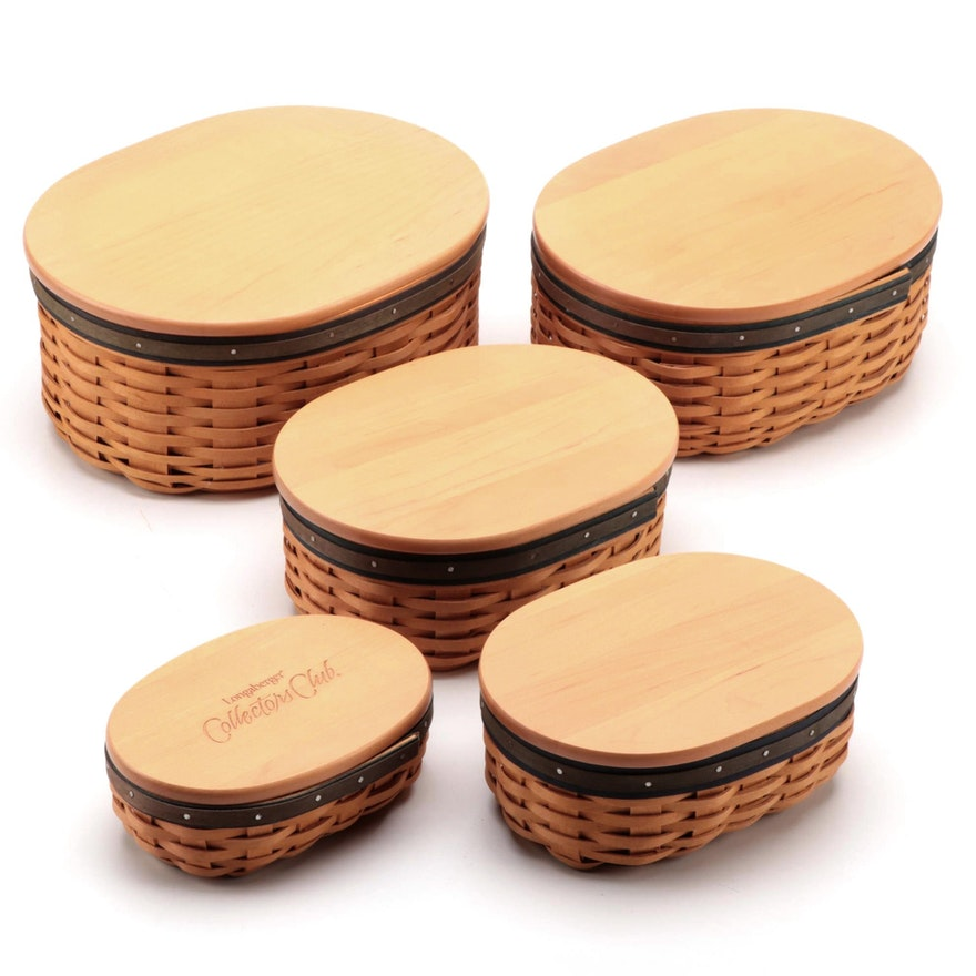 """Longaberger Collector's Club """"Harmony"""" Woven Baskets, 2000–2002"""