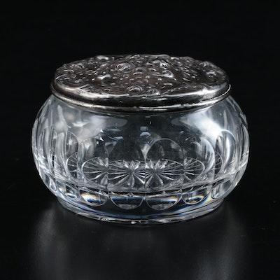 "Gorham ""Victorian"" Silver Plate and Glass Vanity Jar"