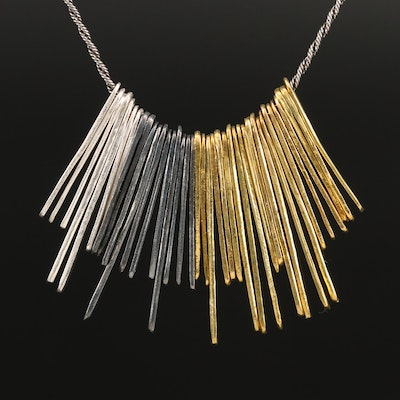 Silpada Sterling Bar Fringe Necklace