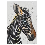 "Anne ""Angor"" Gorywine Watercolor Painting of Zebra"