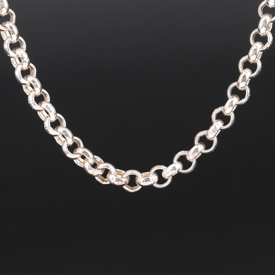 Sterling Silver Rolo Chain Necklace