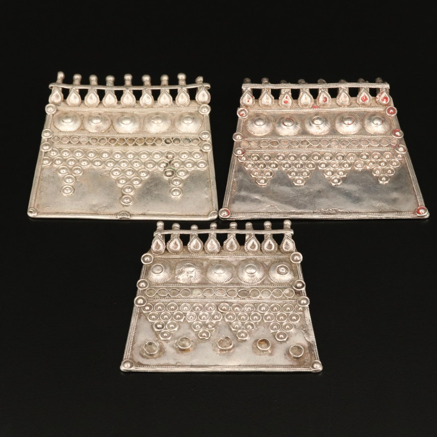 Indian Sterling Silver Talisman Pendants