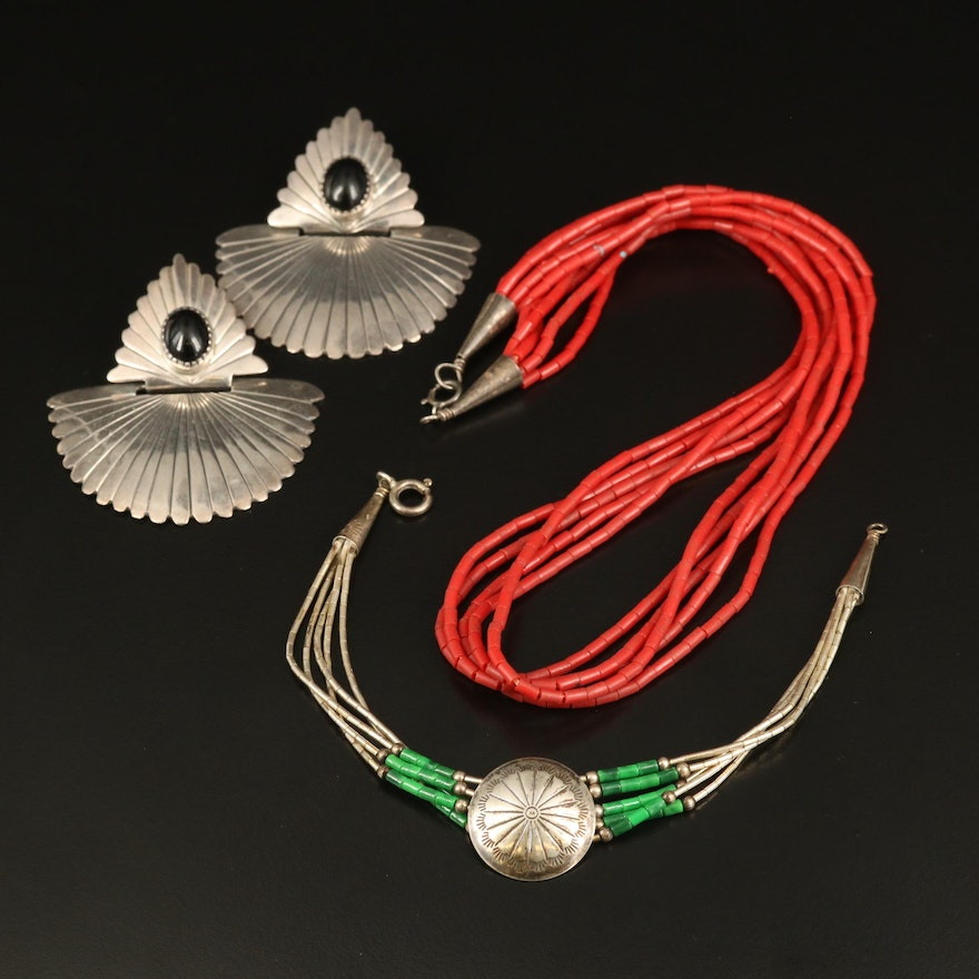 Western Sterling Jewelry Featuring Phillip White Navajo Diné
