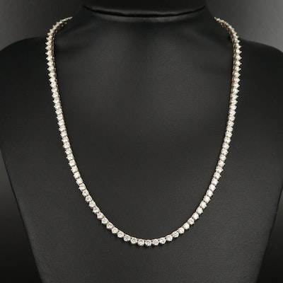 14K 10.97 CTW Diamond Line Necklace