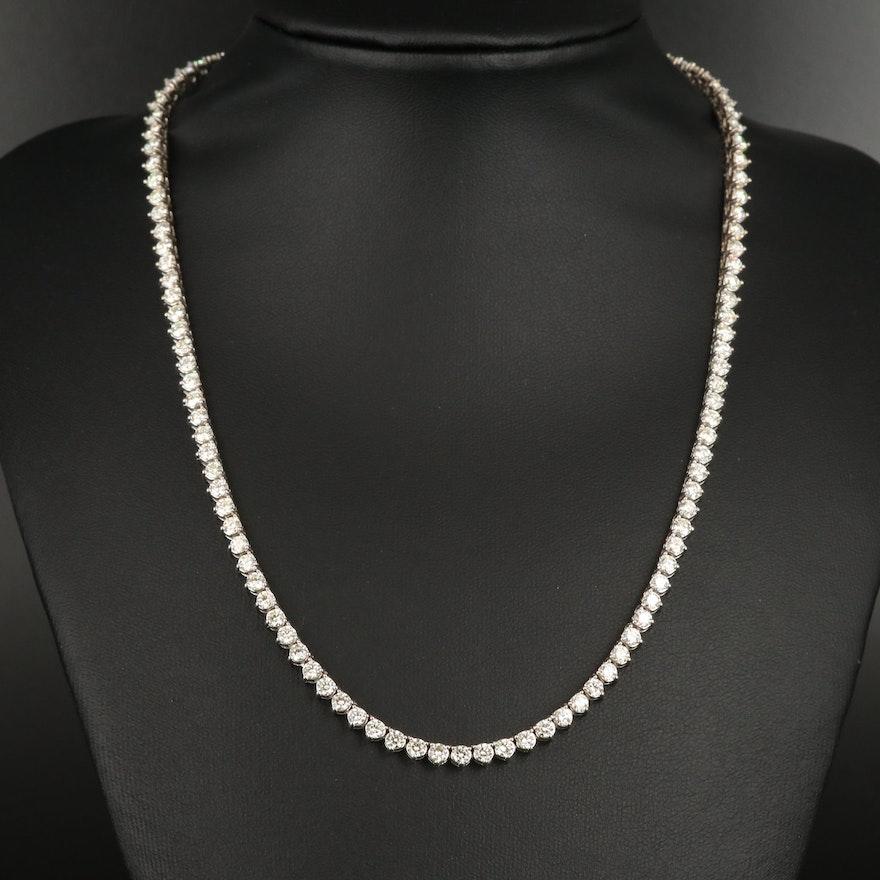 14K 10.97 CTW Diamond Line Necklace