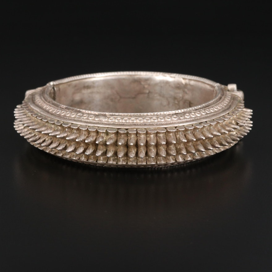 Indian Style Sterling Silver Spiked Bracelet