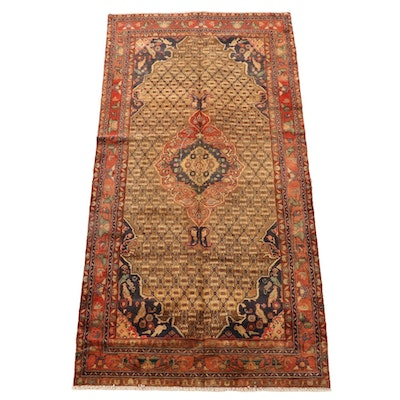 4'9 x 10'3 Hand-Knotted Persian Veramin Wool Area Rug