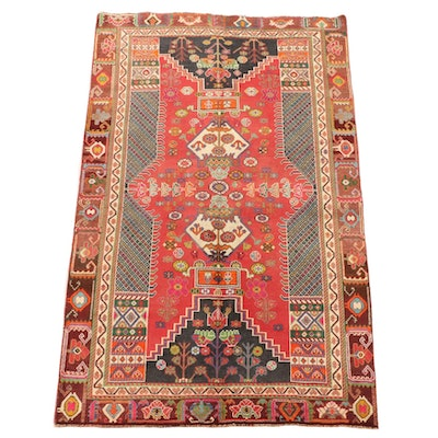 4'10 x 8'2 Hand-Knotted Persian Shahsavan Wool Area Rug
