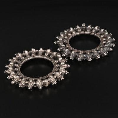 Indian Style 800 Silver Khatria Bracelets From Rajasthani Region