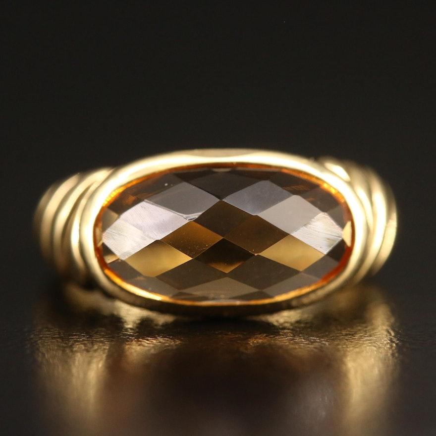 David Yurman 18K Citrine Ring