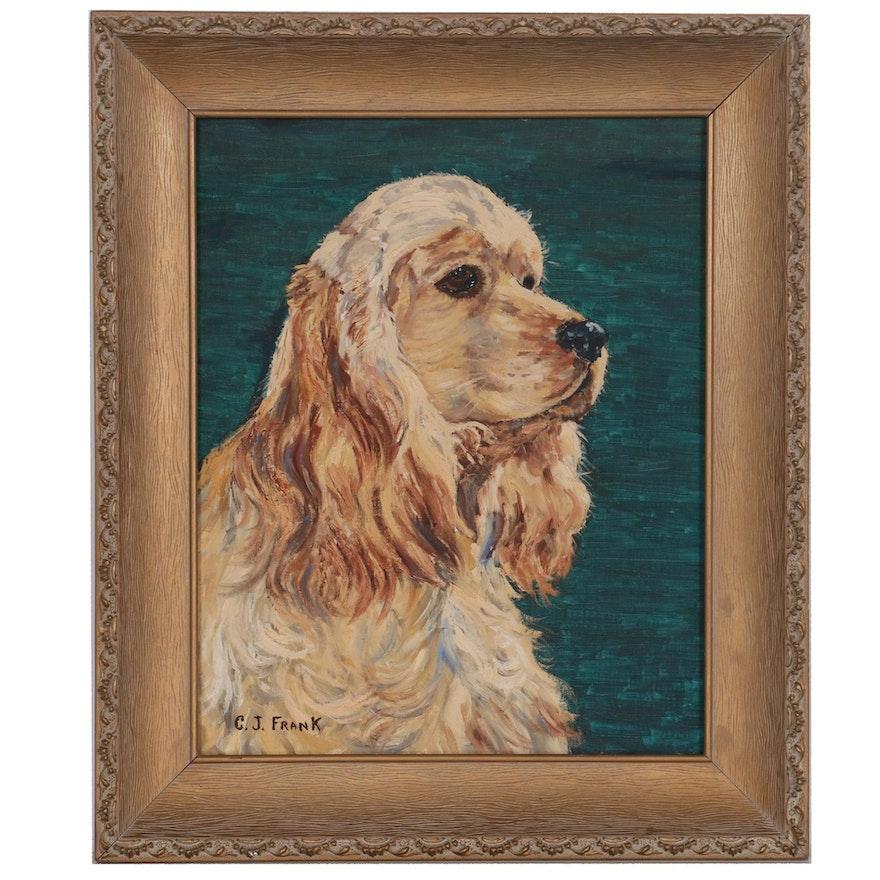 Canine Oil Portrait of Cocker Spaniel, 21st Century