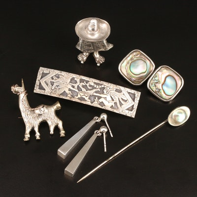 Jewelry Featuring Sterling Silver, Abalone and Pearl Accents
