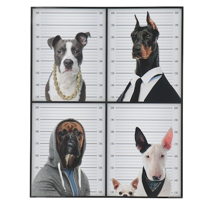 "Offset Lithograph ""Most Wanted Dogs"""