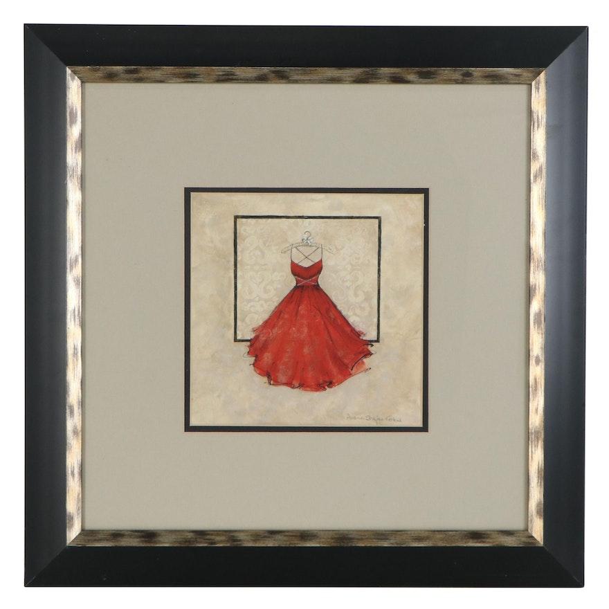 """Digital Print after Andrea Stajan-Ferkul """"Take Me Dancing II (Red)"""""""