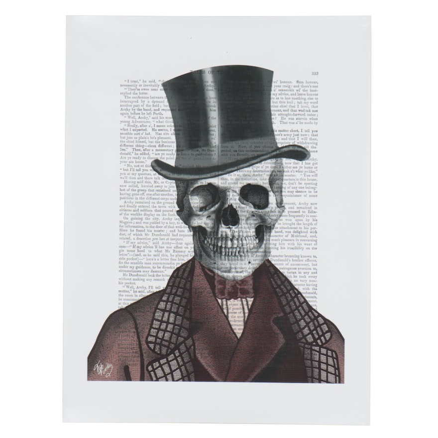 Giclée of Skeleton in a Top Hat