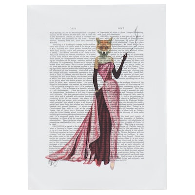 Giclée of Anthropomorphic Fox in a Gown