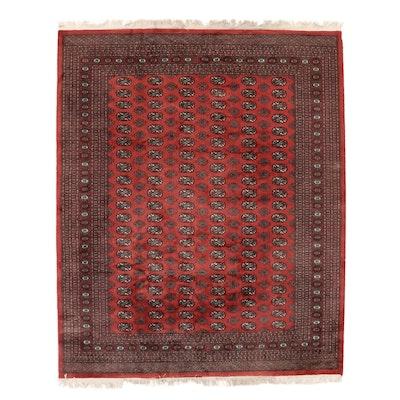 8'1 x 10'3 Hand-Knotted Pakistani Bokhara Turkmen Area Rug, 2000s