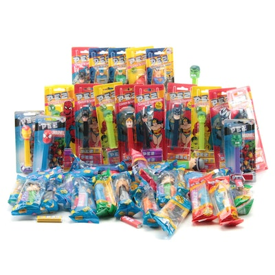 "PEZ ""Wonder Woman"", ""Batman"", ""Superman"" and Other Comic Character Dispensers"