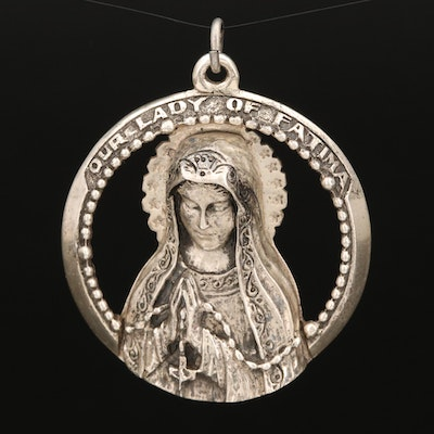Sterling Our Lady of Fatima Pendant