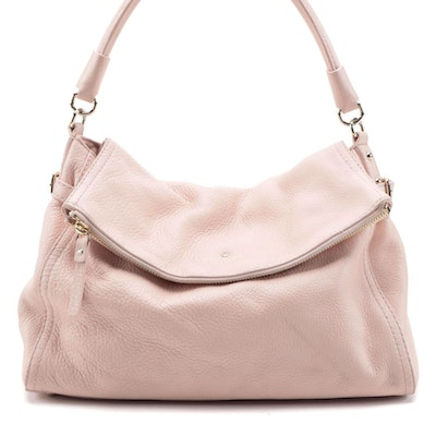 Kate Spade Pink Pebble Grained Leather Two-Way Shoulder Bag