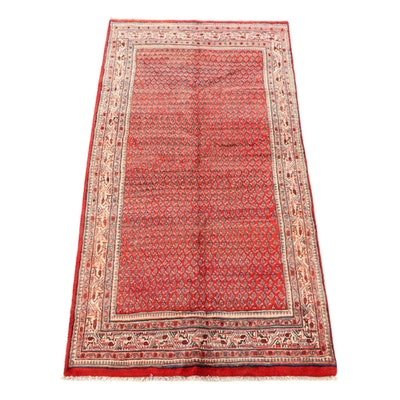 4'10 x 9'10 Hand-Knotted Persian Mir Serabend Wool Area Rug