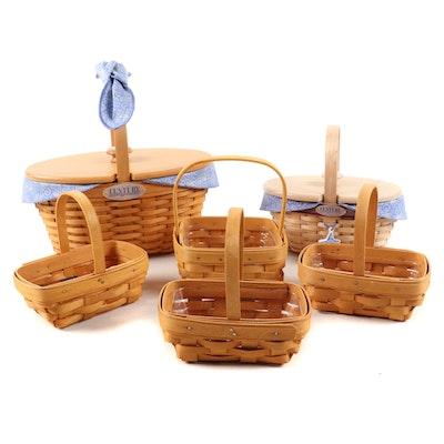 "Longaberger Baskets ""Century Celebration"" Lidded Baskets with Other Baskets"