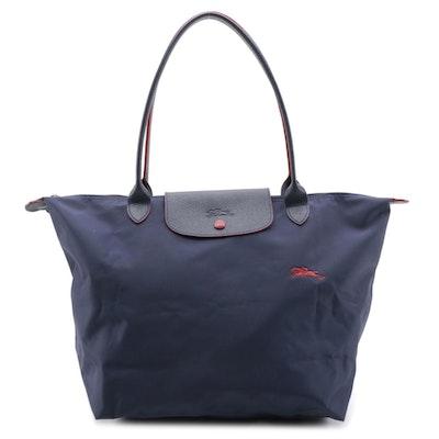 Longchamp Le Pliage Navy Blue Tote Bag