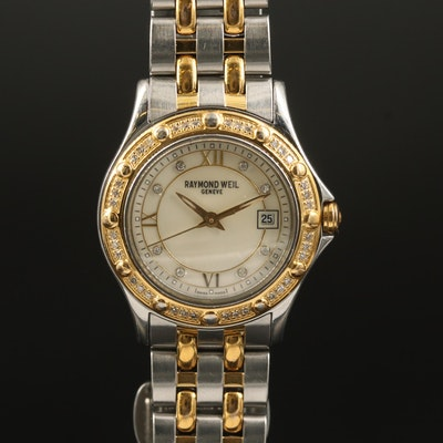 Raymond Weil Tango Diamond Two Tone Stainless Steel Quartz Wristwatch