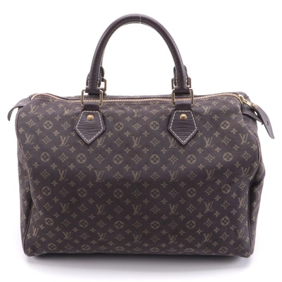 Louis Vuitton Speedy 30 in Ebene Monogram Mini Lin Canvas