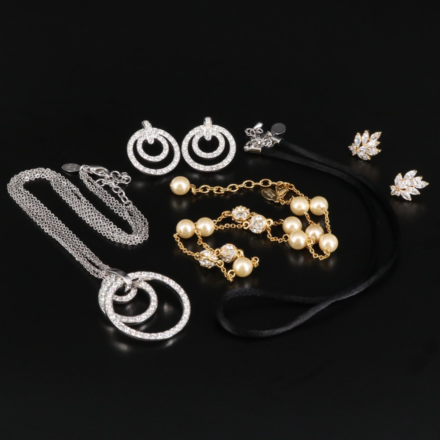 Nolan Miller Necklaces and Earrings with Jewelry Boxes