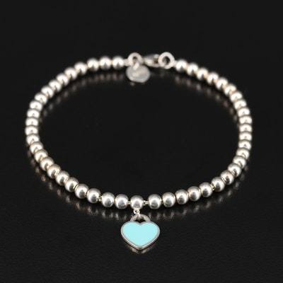 "Tiffany & Co. ""Please Return to Tiffany"" Sterling Bead Bracelet"