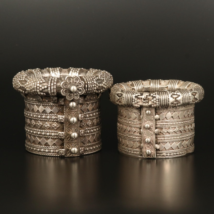 Western India Gujarati Sterling Kambi-Kadla Cuffs