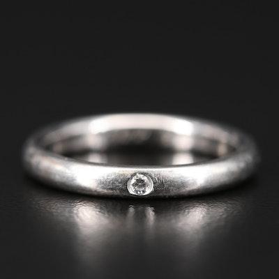 Elsa Peretti for Tiffany & Co. Platinum Diamond Band