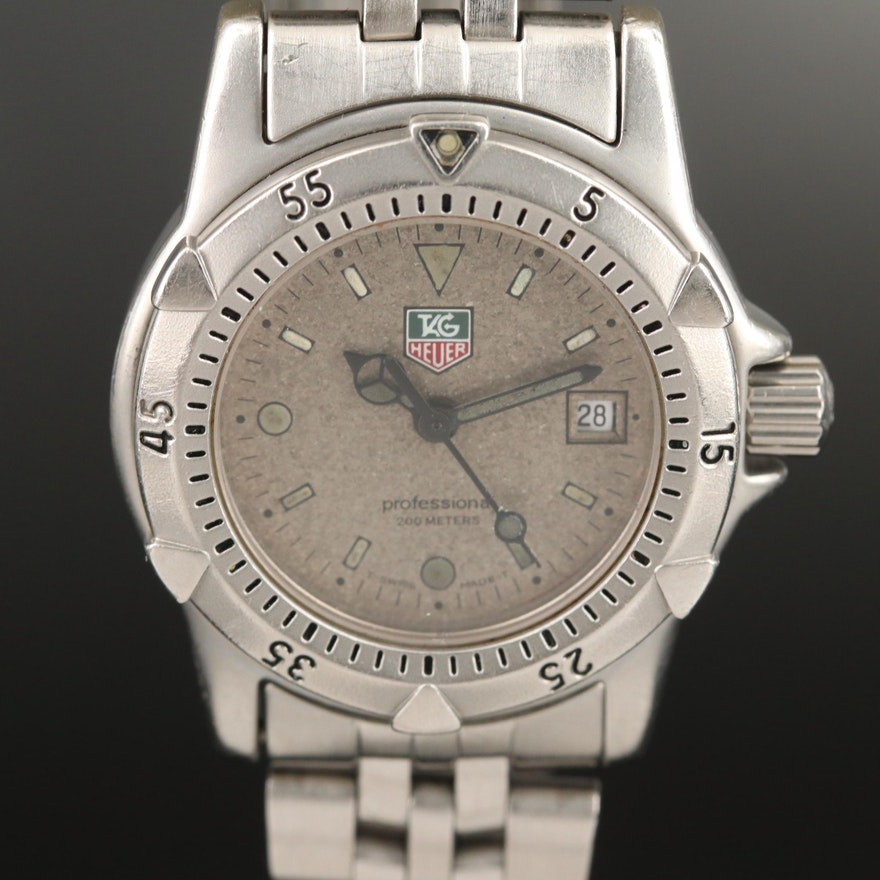TAG Heuer Granite Dial Stainless Steel Quartz Wristwatch