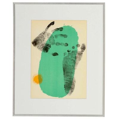 """Joan Miró Color Lithograph for """"Derrière le Miroir,"""" 1956"""