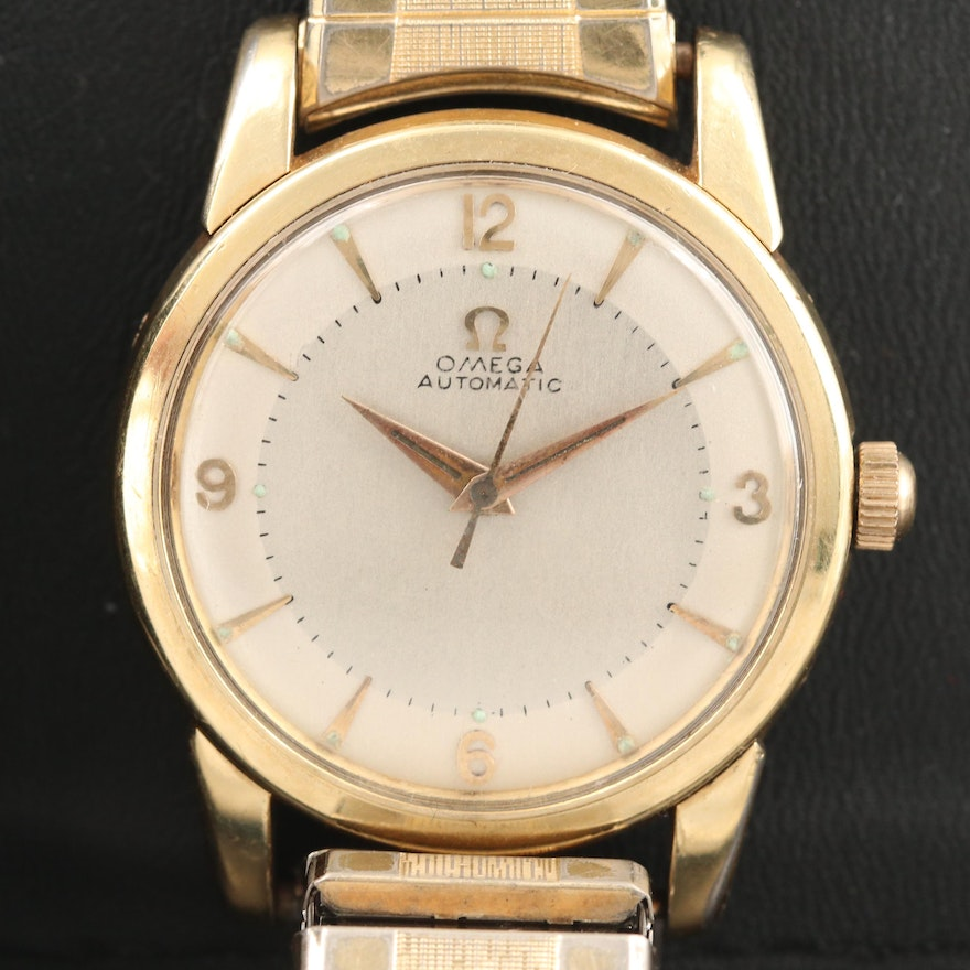 """Omega """"Seamaster"""" Stainless Steel and Gold Plate Wristwatch, Circa 1956"""