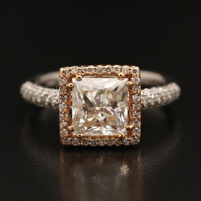 EFFY 14K 2.80 CTW Diamond Halo Ring