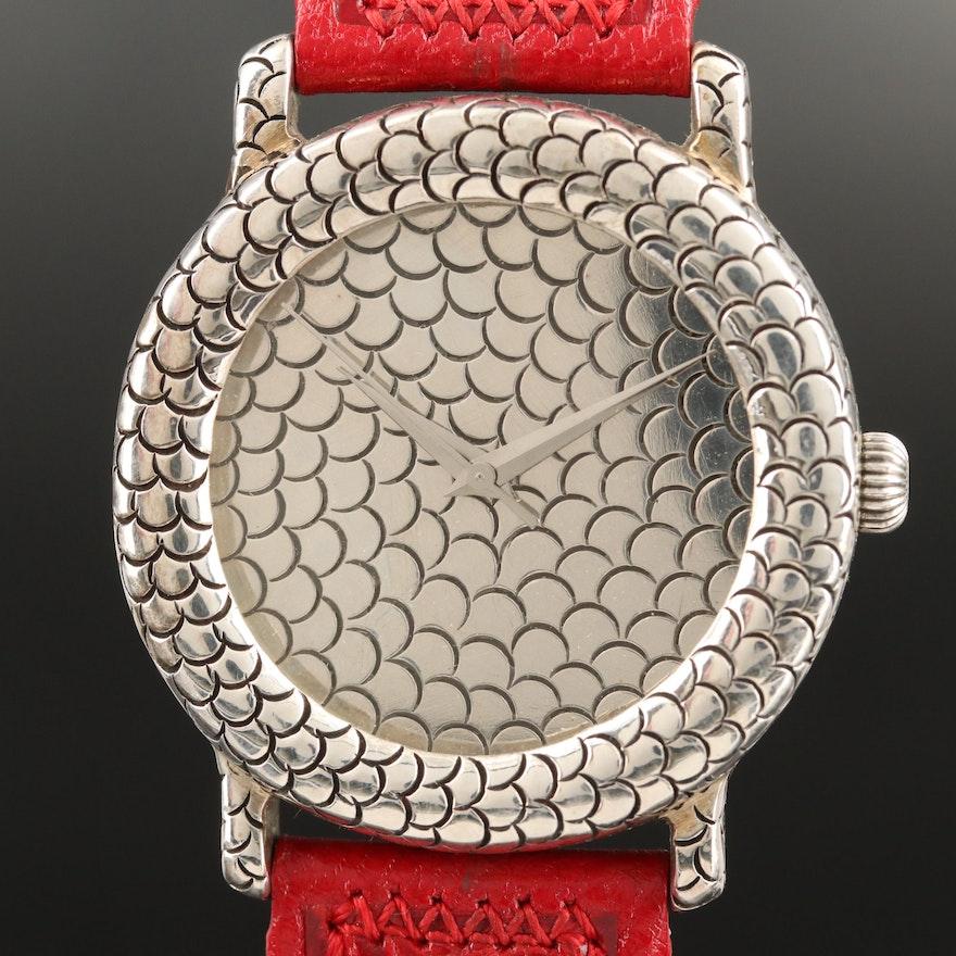 John Hardy for Swiss Watch Corp. Sterling Silver Wristwatch