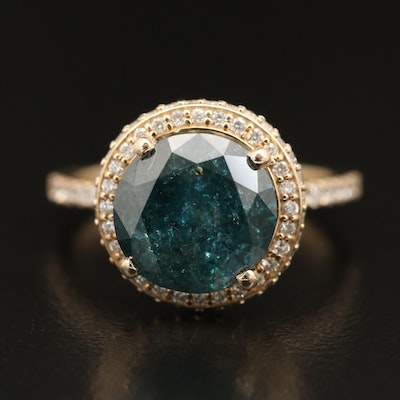 14K 3.91 CTW Diamond Halo Ring