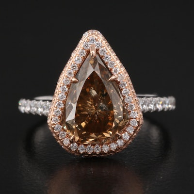 14K 4.79 CTW Diamond Ring with GIA Report