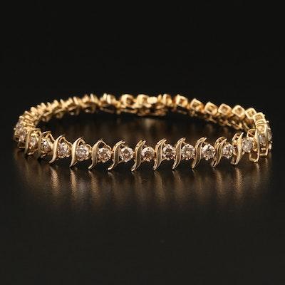 10K 3.50 CTW Diamond Link Bracelet