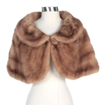 Mink Fur Capelet with Shawl Collar by Revillon