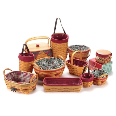 "Longaberger ""Christmas Collection"" and Other Coordinating Baskets"