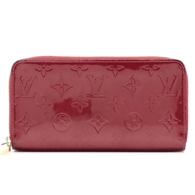 Louis Vuitton Monogram Pomme D'Amour Vernis Zippy Wallet